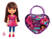 Dora the Explorer Hair Accessories in Purse and Dora Doll Bundle of 2 Items