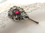 Sara Attali Design Lovely Vintage Hair Clip style Charming Antique Decoreted Pearls & Stone