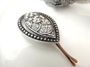 Sara Attali Design Lovely Vintage Leaf Hair Clip style Silver Bridal Hair Clip