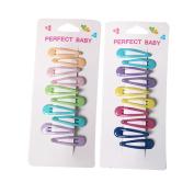 20Pcs 4.1cm Mini Colourful Hair Clips Bright Glitter Snap Clips