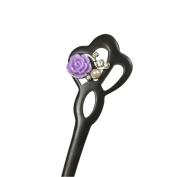 Retro Delicate Hairpin Hair Pin Rhinestone Flower Accessories Chignon Pins Bun Vintage Women Girl Hair Stick