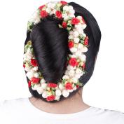 Majik Artificial Hair Gajra (Veni) Hair Flowers For Bun Decorations