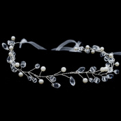 Lace Crystals Rhinestone Soft Girl Headband Hair Chains Bridal Wedding Hair Jewellery Accessories HB1014