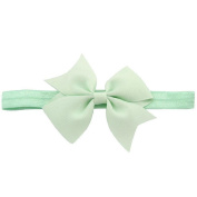 Shuohu Baby Girl Solid Colour Headband Cute Bowknot Bow Hair Band Gift