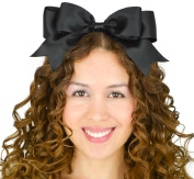 Black Headband Bow Alice in Wonderland Inspired Satin Ribbon Lolita Hair Accessory Handmade by Sweet In The City USA