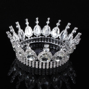 FUMUD Vintage Wedding Crown Clear Austrian Rhinestone Bridal Tiaras Pageant Prom Party Jewellery Xmas Gifts