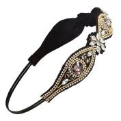 Women Elegant Rhinestone Beads Headband Hairband Bridal Wedding Hair Accessary