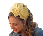 Sara Attali Design Headband Yoga Headscarf Tichel Chemo Half Hair Covering bandana One Size Sun Shines Yellow
