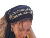 Sara Attali Design Tichel Headscarf Half Hair Covering Lovely Headband One Size Black Autumn