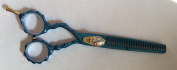 DreamCut Left Handed Professional Razor Thinning Shears Titanium Coated 15cm BLUE