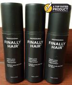 Hair Building Fibre STRONG Fibre Lock Hair Spray 3 Pack by Finally Hair