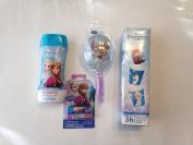 FROZEN Shampoo Lip Balm Hairbrush Paper Cups Bundle