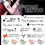 Waterproof Colourful Removable Temporary Tattoo DIY Body Sticker Sheet