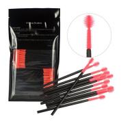 Baomabao 100Pcs Disposable Silicone Eyelash Brushes Makeup Wands Mascara Wands