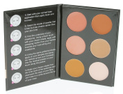 Cameo Cosmetics 6 Shades Contour Kit, Dark Colours - Sleek Makeup Palette For Highlighting & Contouring - Step By Step Instructions Included