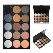 15 Colour Eyeshadow Palette, Bold and Bright Collection, Vivid, KRABICE Eyeshadow Eye Shadow Palette Makeup Kit Set(15 Eyeshadow Palette) #2