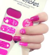 X.T Nail Polish Strips Pink Valentine's Day Nail Sticker