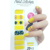 X.T Nail Polish Strips Cute Yellow Banana Nail Sticker