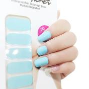 X.T Nail Polish Strips blue white Nail Sticker