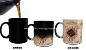 Harry Potter mugs Marauders Map Heat Changing Colour Coffee Mugs by Morphing Mug