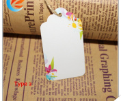 100pcs Colourful Kraft Paper Tags DIY Card Hand Draw Paper Tags Labelled Wishing Card bookmark+20M String