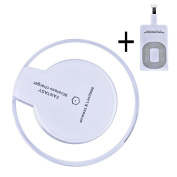 Wireless Charger Kit,SUMOON Ultra-Slim Wireless Charging Pad for iPhone 6/6s Plus,Samsung S6, Nexus 4 /5 / 6 / 7, Nokia Lumia 920, LG Optimus Vu2, HTC 8X / Droid DNA and All Qi-Enabled Devices