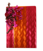 30m Festive Rose Pink And Gold Orange Foil Gift Wrap - 80cm wide - Bulk Size - 23sqm