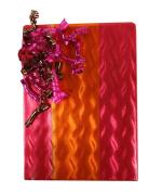 30m Festive Rose Pink And Gold Orange Foil Gift Wrap - 80cm wide - Bulk Size - 23sqm