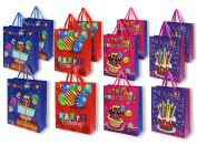 Birthday Gift Bags -12 pack By Juvale Medium Birthday Party 3D Present Bags with Tags