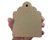 100 Count Large Kraft Brown Hang Tags for Crafts, Gifts, Party Favours, Price Tags