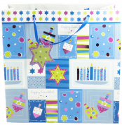 Set of 6 Large Premium Hanukkah Gift Bags - Size 12 x 12