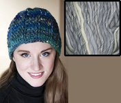 """Spokes Pattern"" Hat Crochet Kit in Mushishi Big yarn - Winter Greys"