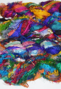 Sari Pure Silk 100g Ribbon Yarn recycled Sari Silk Ribbon Yarn multicoloured Jewels shade