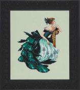 Portrait of Veronica LINEN Kit Beaded Counted Cross Stitch by Nora Corbett Mirabilia Designs MD147 (Bundle