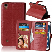 LG X Power Case,VPR Premium Luxury PU Leather Wallet [Card Holder] Strong Magnetic Closure Flip Protective Cover with Card Slots & Stand For LG X Power K210 / K6P
