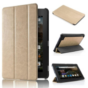 Amazon Kindle Fire HD 7 2015 Tablet Case - Ikevan PU Leather Case Super Protection Cover Ultra Lightweight Slim-shell Stand Cover