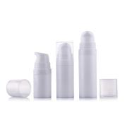 6Pcs 5ml/10ml/15ml White Empty Portable Refillable High-grade Plastic Airless Vacuum Pump Bottle Vial Travel Mini Bayonet Cream Lotion Toner Container Pot