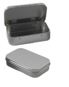 AKOAK 6 Pcs 3.7 x 6.1cm x 2.5cm Rectangular Empty Hinged Tins Box Containers for First Aid Kit,Survival Kits,Storage,Herbs,Pills,Crafts and More