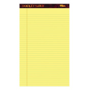 Note Pad. The Gold Pad Narrow Rule Perforated In Canary Ultimate Chart Paper Tops. Best For School, Office, Home, Educational & Small Group Activities. 22cm X 36cm . (50 Sheets\Pad 12 Pads\Pack).