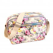 ZOONAI Women Canvas Crossbody Messenger Shoulder Sling Bag Floral Handbag Purse