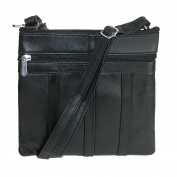 CTM Women's Patch Leather Crossbody Handbag