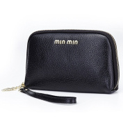 Aladin Leather Evening Clutch Purse, Zip Around Cell Phone Bag Wristlet Wallet