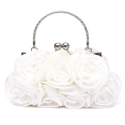 Gilroy Women Rose Flower Clutch Bag Evening Party Bridal Handbag