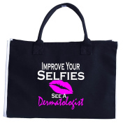 Improve Your Selfies See A Dermatologist Dermatology Med Spa - Tote Bag