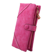 TechSmile Fashion Leather Wallet Button Purse Lady Long Women's Handbag