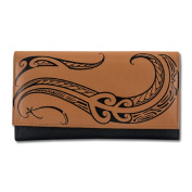 "Polynesian Tattoo Women's Leather Clutch Wallet ""Ahona"""