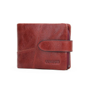 Contacts Women's Genuine Leather Card Holder Zip Coin Purse Bifold Trifold Wallet