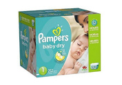 Pamper Baby Dry Nappies Economy Pack Plus, Size 1, 252 Count, New!!!