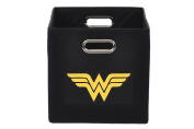 Wonder Woman Folding Storage Bin, Black