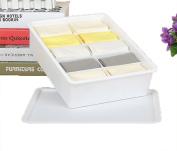 GAMT Plastic Underwear Bra Storage Box Ten Grid with a Lid white